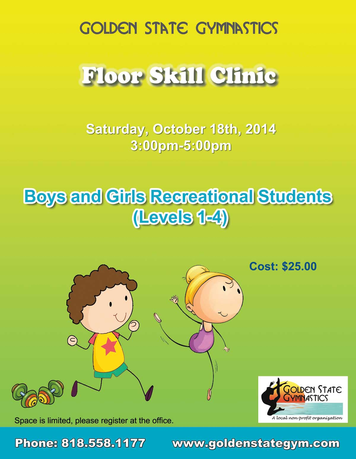 Skill Clinic Floor Girls and Boys Oct-2