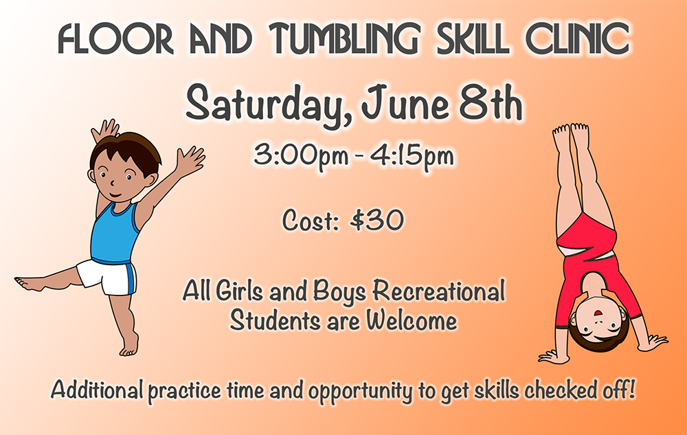 Floor and Tumbling Clinic June 8th