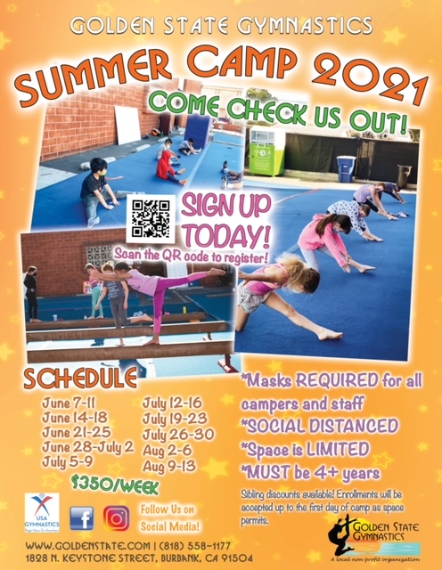 2021 Summer Camp Flyer